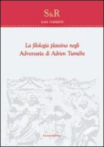 La filologia plautina negli adversaria di Adrien Turnebe