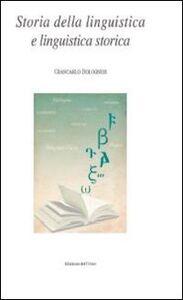 Storia della linguistica e linguistica storica