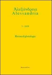 Alessandria. Rivista di glottologia (2009). Ediz. multilingue. Vol. 3