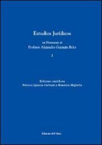 Estudios juridicos en homenaje al profesor Alejandro Guzman Brito. Vol. 2