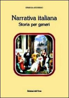 Narrativa italiana. Storia per generi - Erminia Ardissino - copertina