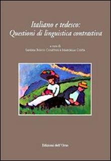 Capturtokyoedition.it Italiano e tedesco. Questioni di linguistica contrastiva. Ediz. italiana e tedesca Image