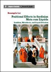 Positional effects in Sardinian muta cum liquida. Lenition, metathesis, and liquid deletion