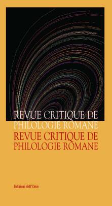 Librisulladiversita.it Revue critique de philologie romane (2015). Vol. 16 Image