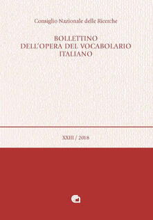 Voluntariadobaleares2014.es Bollettino dell'opera del vocabolario italiano (2018). Vol. 23 Image