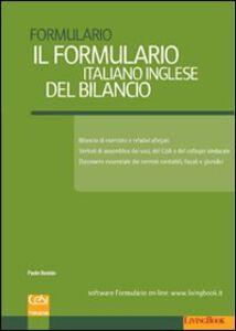 Il formulario italiano inglese del bilancio