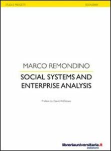 Social systems and enterprise analysis