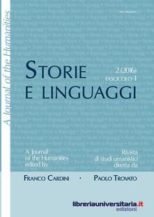 Listadelpopolo.it Storie e linguaggi. Rivista di studi umanistici (2016). Vol. 1 Image
