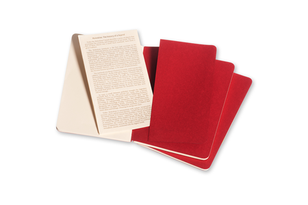 Cartoleria Quaderno Cahier Moleskine pocket a pagine bianche. Set da 3 Moleskine 3