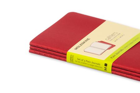 Cartoleria Quaderno Cahier Moleskine pocket a pagine bianche. Set da 3 Moleskine 4