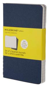 Cartoleria Quaderno Cahier Moleskine pocket a quadretti. Set da 3 Moleskine 4