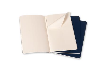 Cartoleria Quaderno Cahier Moleskine pocket a pagine bianche. Set da 3 Moleskine 1
