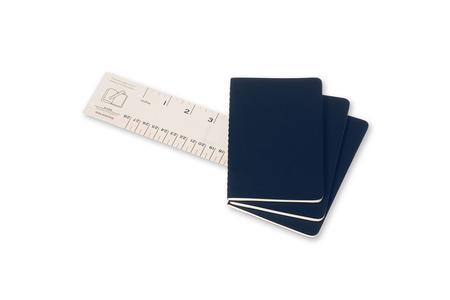 Cartoleria Quaderno Cahier Moleskine pocket a pagine bianche. Set da 3 Moleskine 2