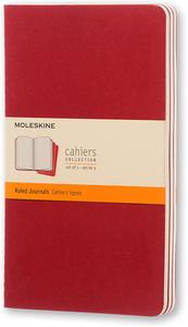 Cartoleria Quaderno Cahier Moleskine large a righe. Set da 3 Moleskine 0