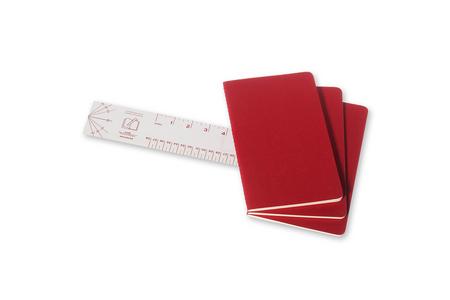 Cartoleria Quaderno Cahier Moleskine large a righe. Set da 3 Moleskine 2