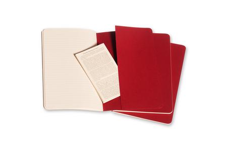 Cartoleria Quaderno Cahier Moleskine large a righe. Set da 3 Moleskine 3
