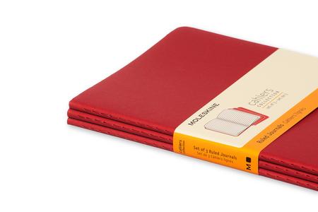 Cartoleria Quaderno Cahier Moleskine large a righe. Set da 3 Moleskine 4