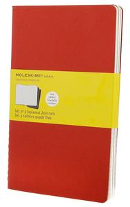 Cartoleria Quaderno Cahier Moleskine large a quadretti. Set da 3 Moleskine 4