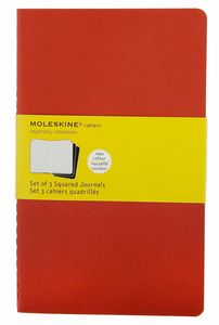 Cartoleria Quaderno Cahier Moleskine large a quadretti. Set da 3 Moleskine 5