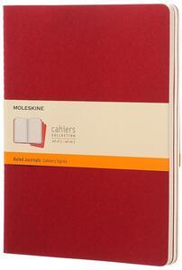 Quaderno Cahier Moleskine extra large a righe. Set da 3