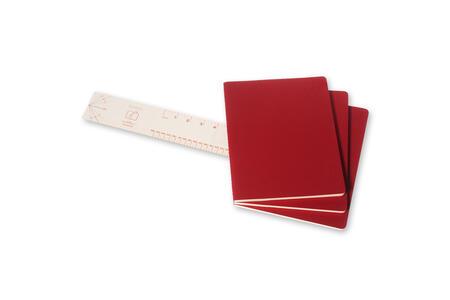 Quaderno Cahier Moleskine extra large a righe. Set da 3 - 3
