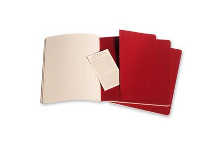 Quaderno Cahier Moleskine extra large a righe. Set da 3 - 4