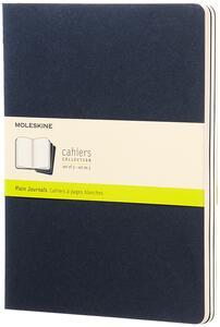 Quaderno Cahier Moleskine extra large a pagine bianche. Set da 3