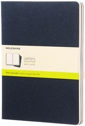 Quaderni Moleskine Cahier extra large a pagine bianche. Set 3 pezzi