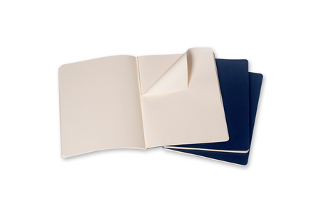 Cartoleria Quaderno Cahier Moleskine extra large a pagine bianche. Set da 3 Moleskine 1
