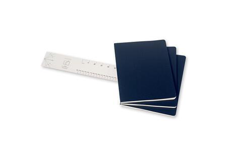Quaderno Cahier Moleskine extra large a pagine bianche. Set da 3 - 3