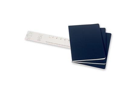 Cartoleria Quaderno Cahier Moleskine extra large a pagine bianche. Set da 3 Moleskine 2