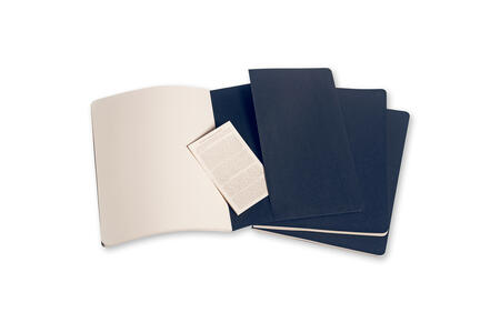 Quaderno Cahier Moleskine extra large a pagine bianche. Set da 3 - 4