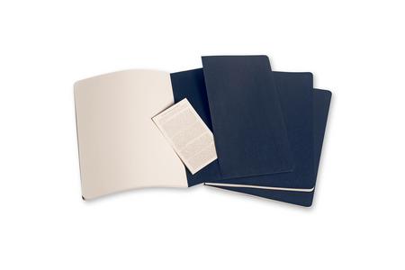 Cartoleria Quaderno Cahier Moleskine extra large a pagine bianche. Set da 3 Moleskine 3