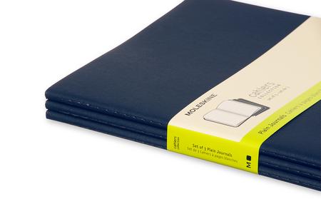 Cartoleria Quaderno Cahier Moleskine extra large a pagine bianche. Set da 3 Moleskine 4