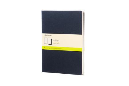 Quaderno Cahier Moleskine extra large a pagine bianche. Set da 3 - 6
