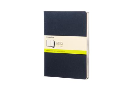 Cartoleria Quaderno Cahier Moleskine extra large a pagine bianche. Set da 3 Moleskine 5