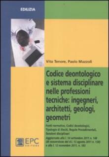 Codice deontologico e sistema disciplinare nelle professioni tecniche: ingegneri, architetti, geologi, geometri.pdf