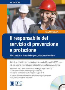 Squillogame.it Il responsabile del servizio di prevenzione e protezione. Con CD-ROM Image