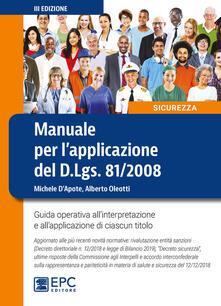 Winniearcher.com Manuale per l'applicazione del D.Lgs. 81/2008. Guida operativa all'interpretazione e all'applicazione di ciascun titolo Image