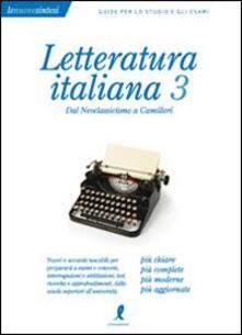 Montagneinnoir.it Letteratura italiana. Vol. 3: Dal Neoclassicismo a Camilleri. Image