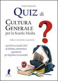 Ristorantezintonio.it Quiz di cultura generale per la scuola media Image