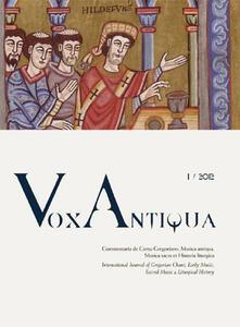 Voluntariadobaleares2014.es Vox antiqua. Commentaria de cantu gregoriano, musica antiqua, musica sacra et historia liturgica. Vol. 1 Image