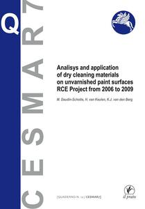 Analisys and application of dry cleaning materials on unvarnished pain surfaces