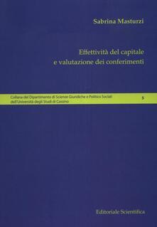 Effettività del capitale e valutazione dei conferimenti