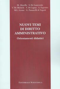 Nuovi temi di diritto amministrativo. Orientamenti didattici
