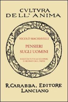 Pensieri sugli uomini - Niccolò Machiavelli - copertina