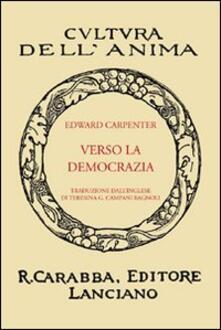 Verso la democrazia - Edward Carpenter - copertina