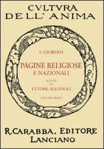 Pagine religiose e nazionali. Vol. 1