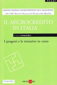 Il microcredito in Italia. I progetti e le iniziative in corso - copertina