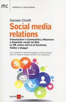 Social media relations - Daniele Chieffi - copertina